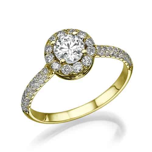 """Cameron"" - Yellow Gold Lab Grown Diamond Engagement Ring 1.01ct. - main"