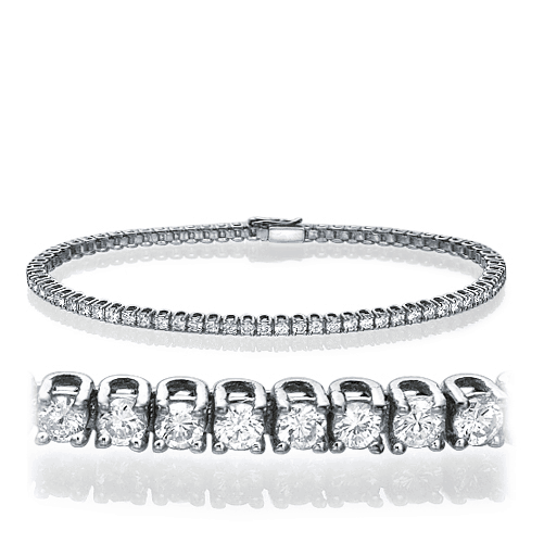 Lab Grown Diamond Bracelet 6.20ct.