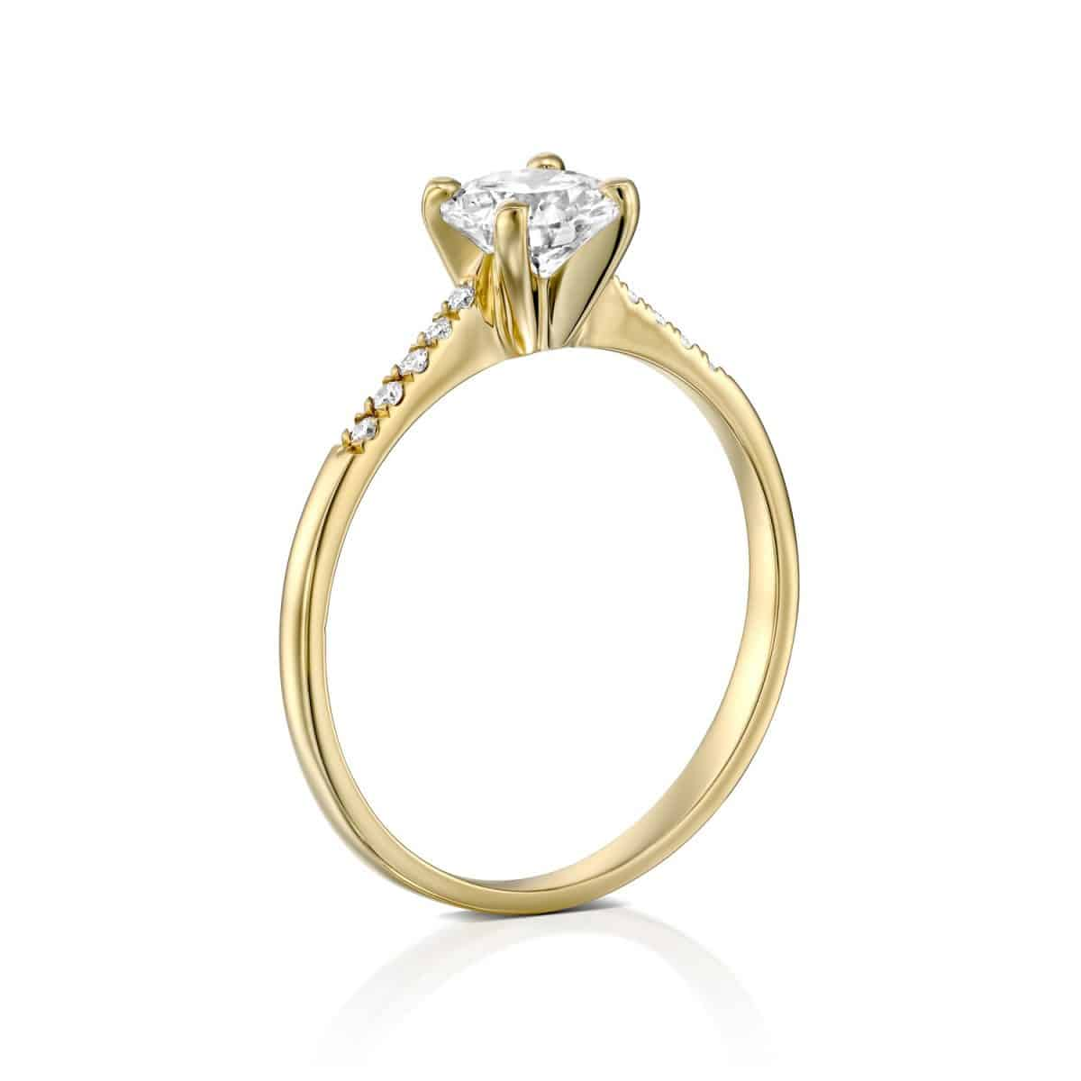 Andrea Lab Grown Diamond Engagement Ring - Side Look