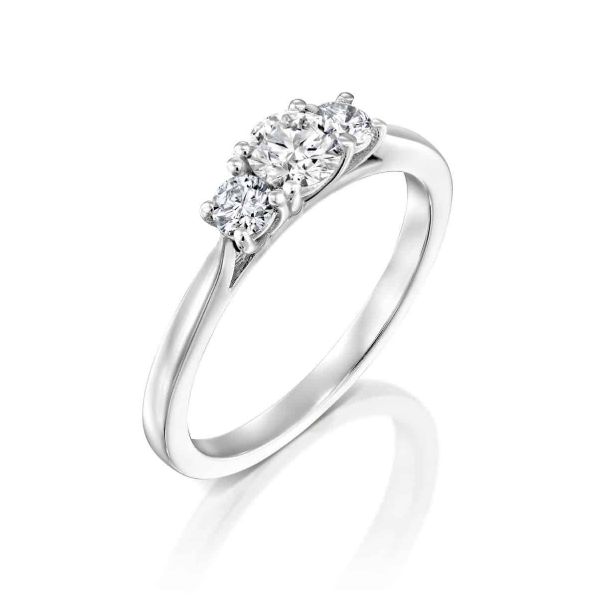 Bar - White Gold Lab Grown Diamond Engagement Ring 0.50ct. - main