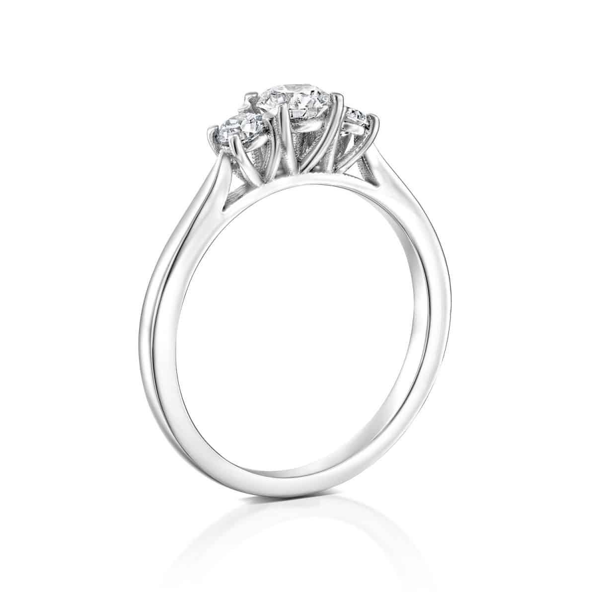 Bar - White Gold Lab Grown Diamond Engagement Ring 0.50ct. - side