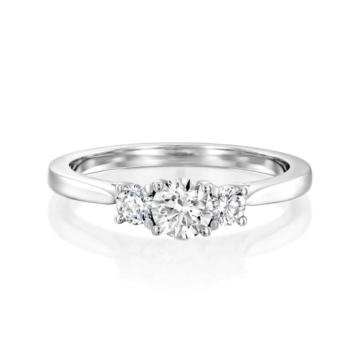 Bar - White Gold Lab Grown Diamond Engagement Ring 0.50ct. - top