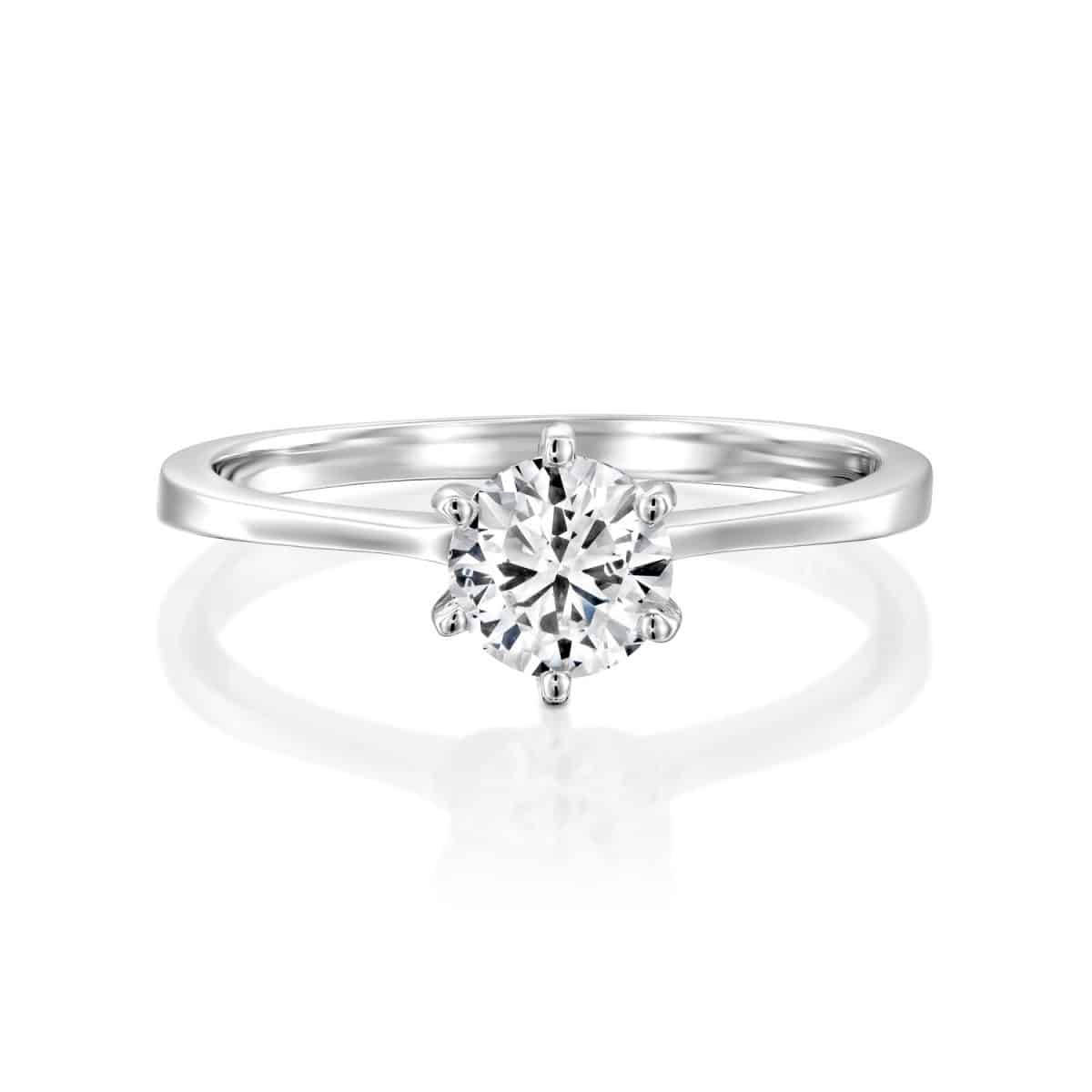 Shannon - White Gold Lab Grown Diamond Engagement Ring 0.41ct. - laying