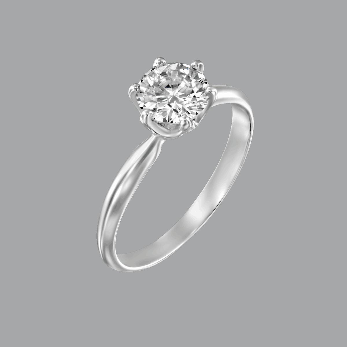 טבעת יהלום זהב לבן קלייר 0.75