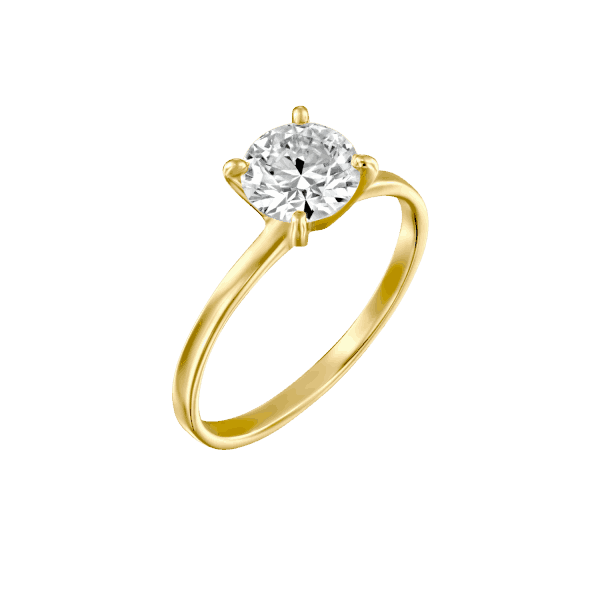 """Anna"" - Yellow Gold Lab Grown Diamond Engagement Ring 0.51ct. - main"