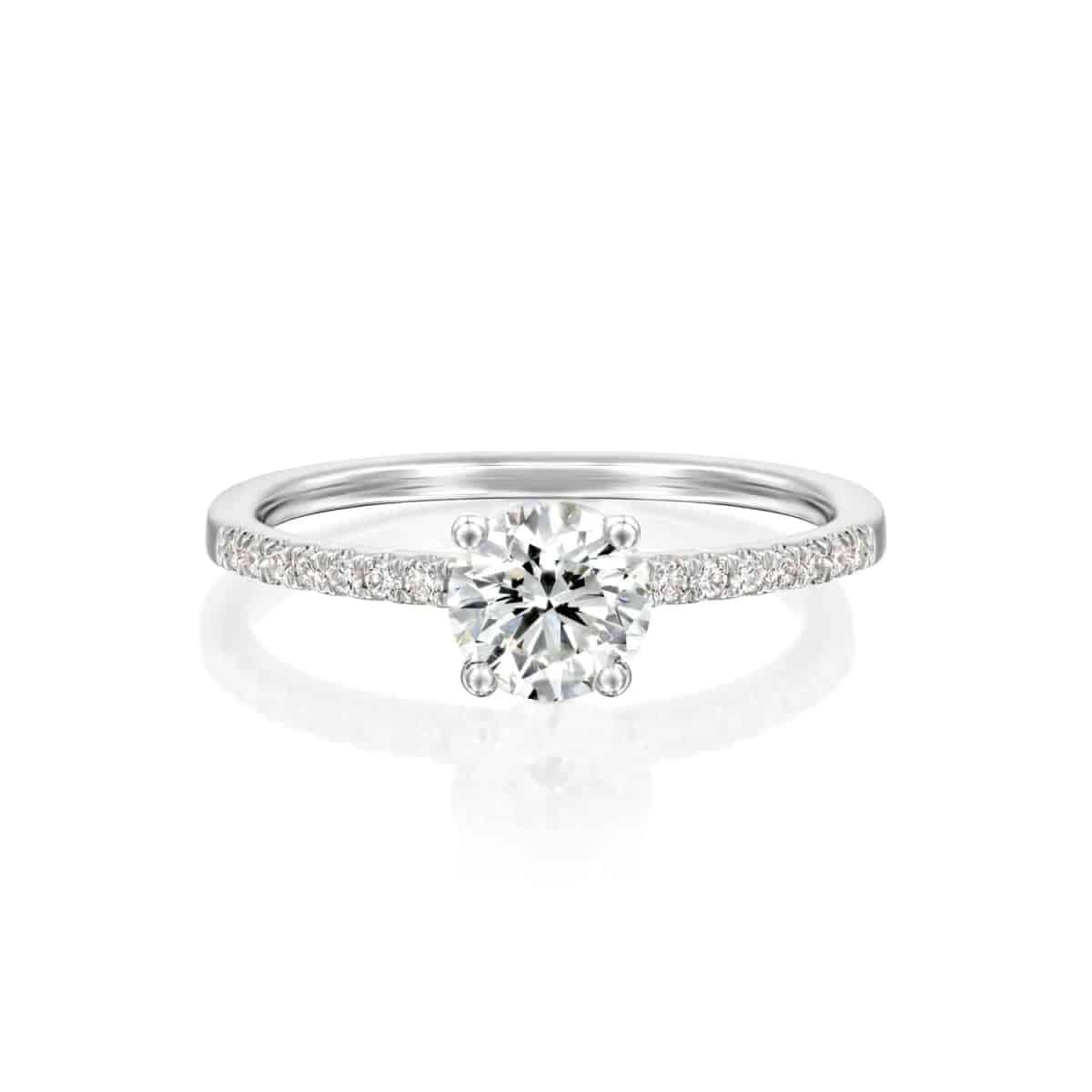 """Carol"" - White Gold Lab Grown Diamond Engagement Ring 0.70ct. - laying"