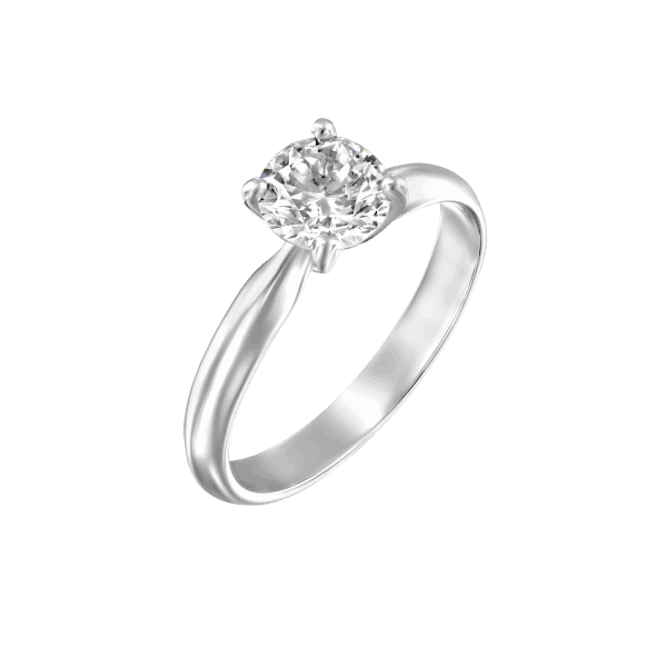 """Brenda"" - White Gold Solitaire Lab Grown Diamond Engagement Ring 0.51ct. - main"