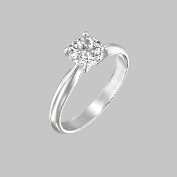 טבעת יהלום סוליטר זהב לבן ברנדה 0.31 קראט