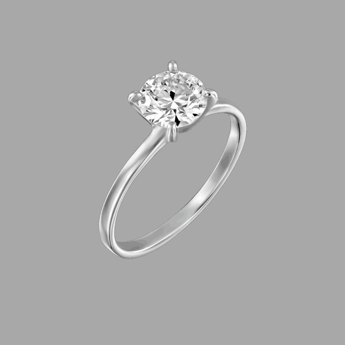 טבעת יהלום סוליטר 0.51 אנה קראט D-VS2