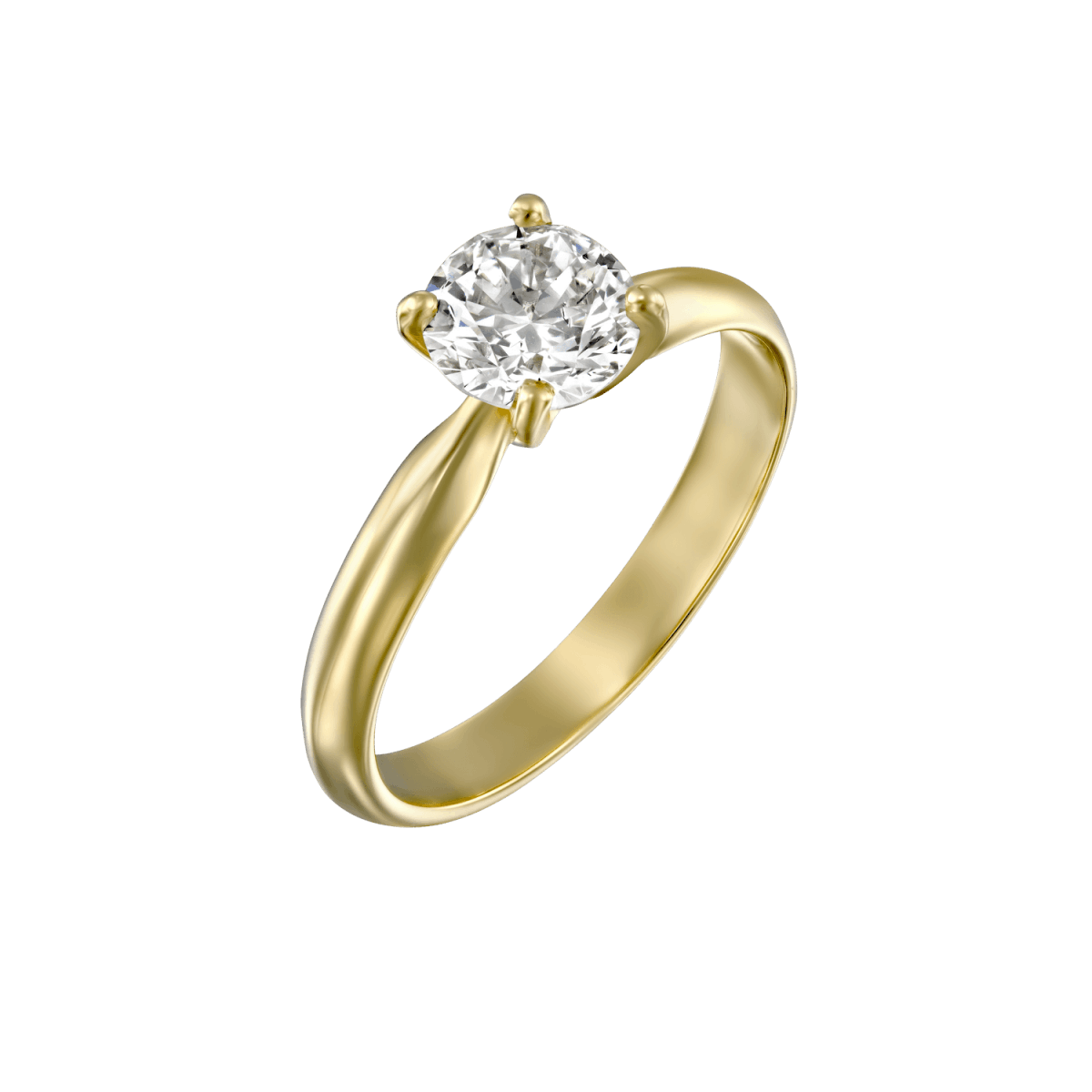 """Brenda"" - Yellow Gold Solitaire Lab Grown Diamond Engagement Ring 0.31ct. - main"