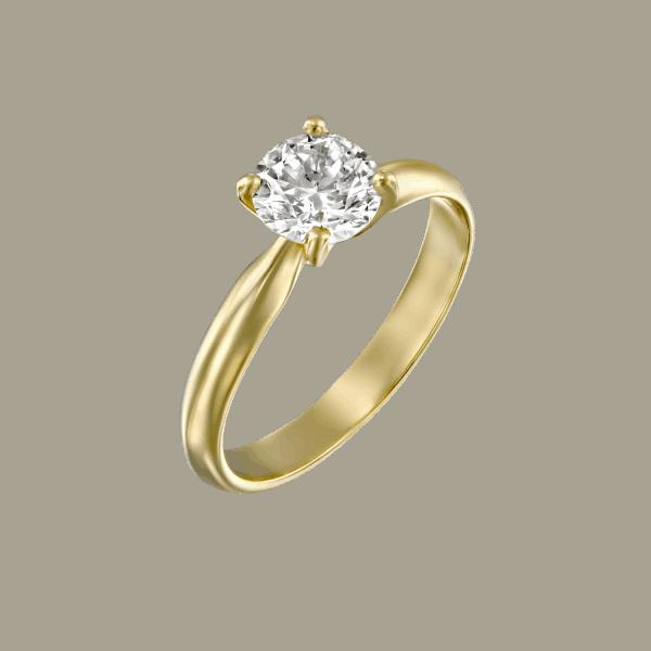 טבעת יהלומים זהב צהוב ברנדה 0.31 קראט