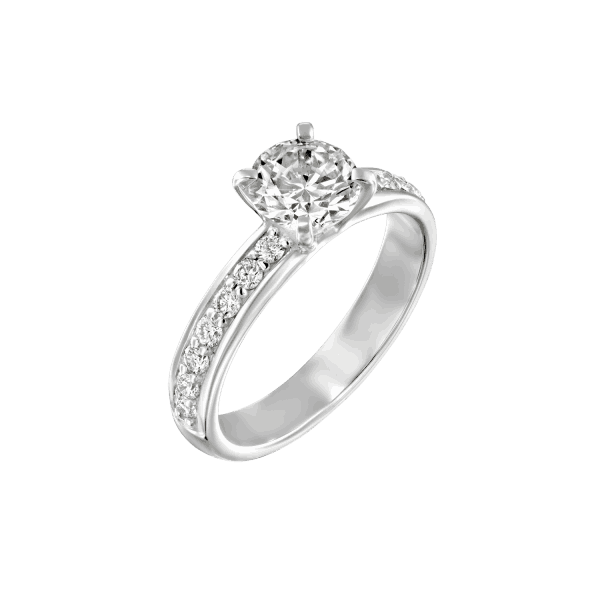"""Lauren"" - White Gold Lab Grown Diamond Engagement Ring 1.71ct. - main"