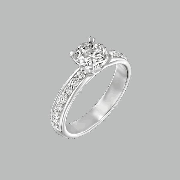 טבעת יהלומים לורן זהב לבן 1.71 קראט D-VS2