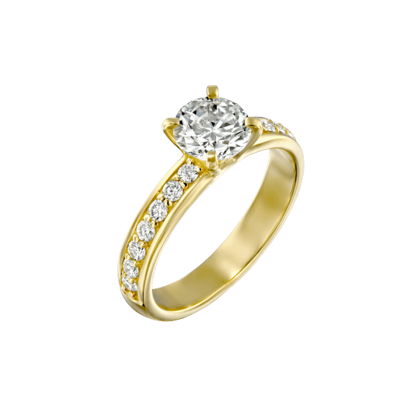 """Lauren"" - Yellow Gold Lab Grown Diamond Engagement Ring 1.21ct. - main"