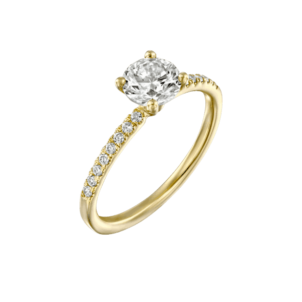 """Carol"" - White Gold Lab Grown Diamond Engagement Ring (classic & delicate design) 1.00ct. - main"