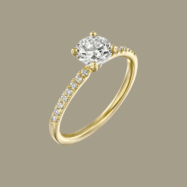 טבעת יהלומים 1 קראט קרול בעיצוב קלאסי ועדין