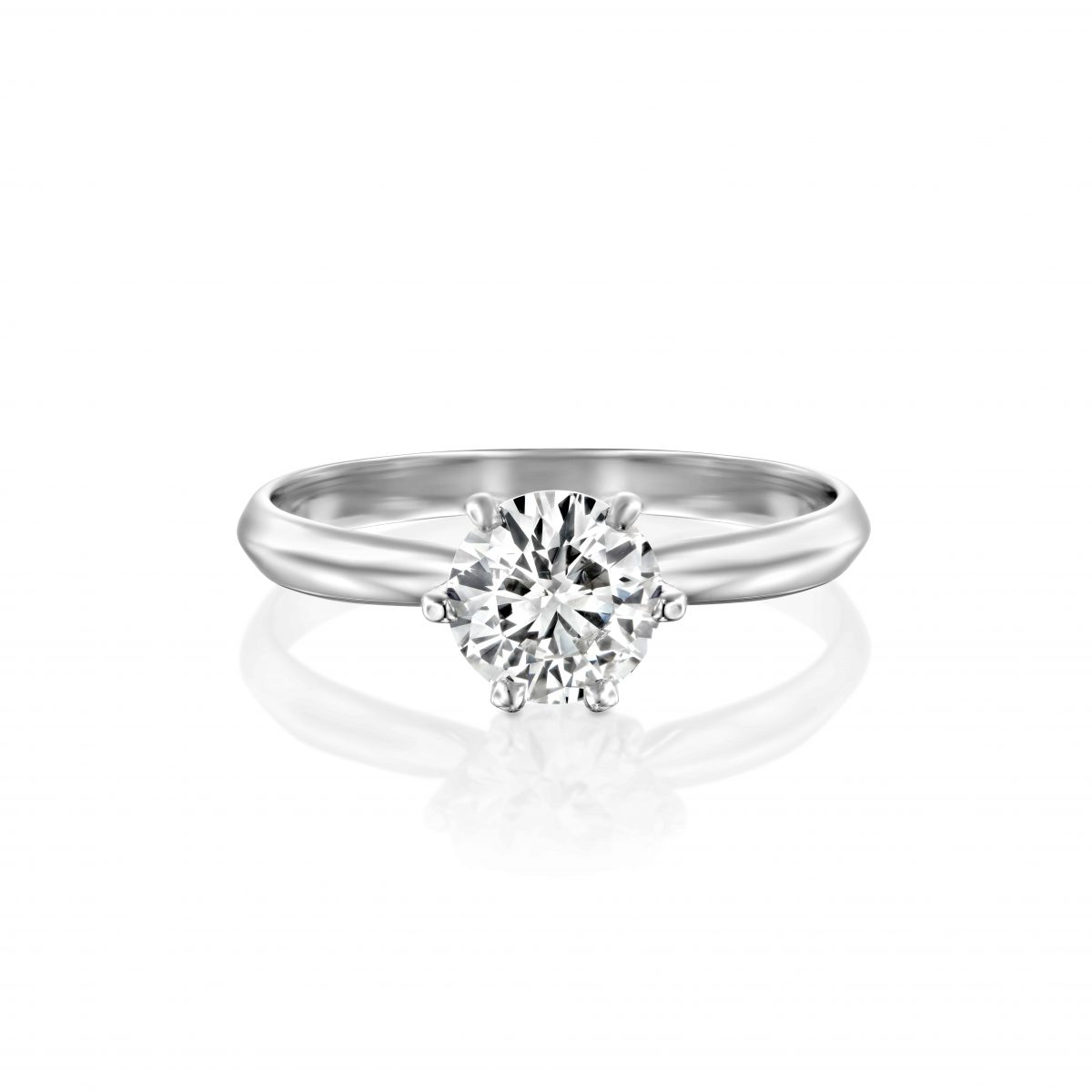"""""""Claire"""" - White Gold Lab Grown Diamond Engagement Ring 0.75ct. - laying"""