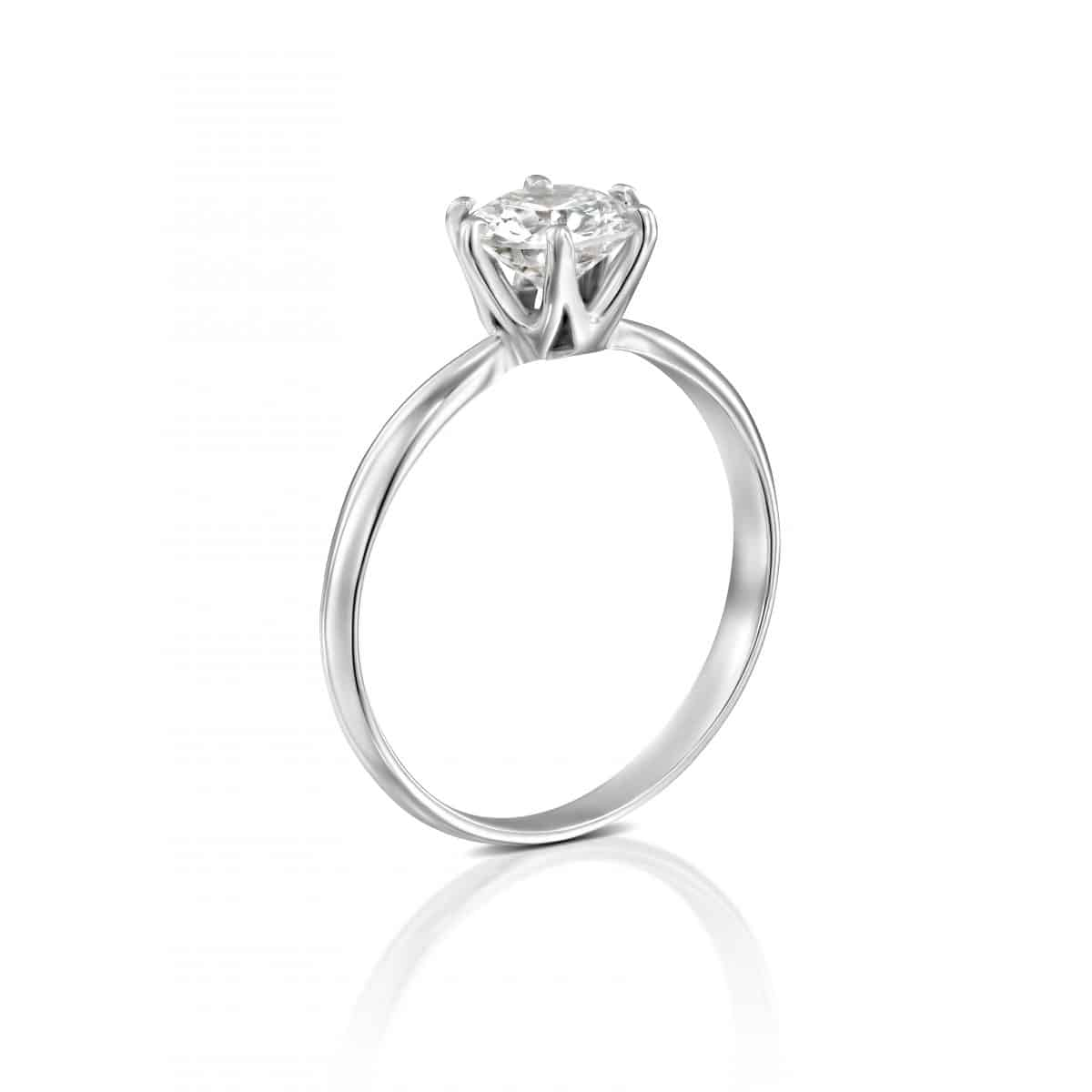 """""""Claire"""" - White Gold Lab Grown Diamond Engagement Ring 0.75ct. - standing"""