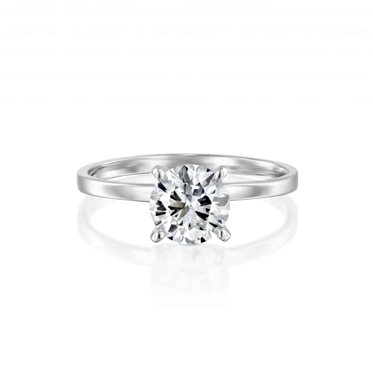 """Anna"" - White Gold Solitaire Lab Grown Diamond Engagement Ring 0.51ct. - laying"