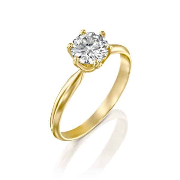 """Claire"" - Yellow Gold Lab Grown Diamond Engagement Ring 1.01ct. - main"