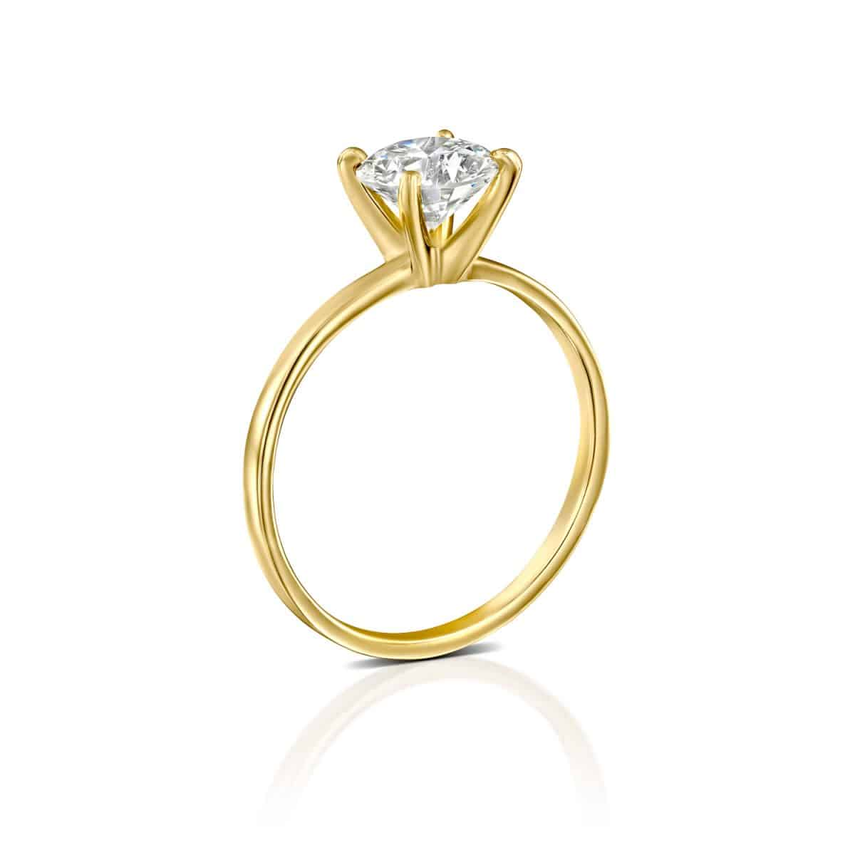 """Anna"" - Yellow Gold Lab Grown Diamond Engagement Ring 0.51ct. - standing"