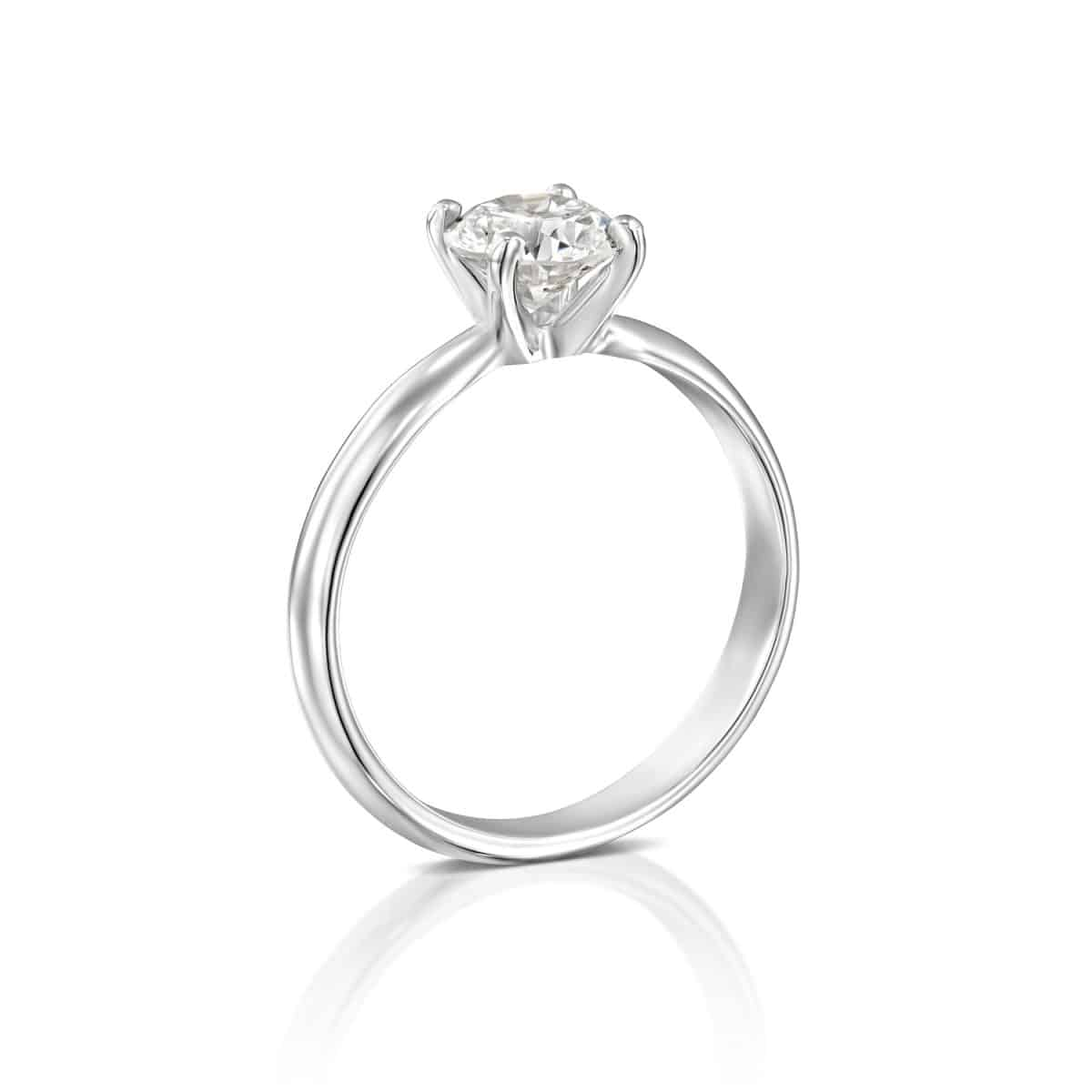 """Brenda"" - White Gold Solitaire Lab Grown Diamond Engagement Ring 0.51ct. - standing"