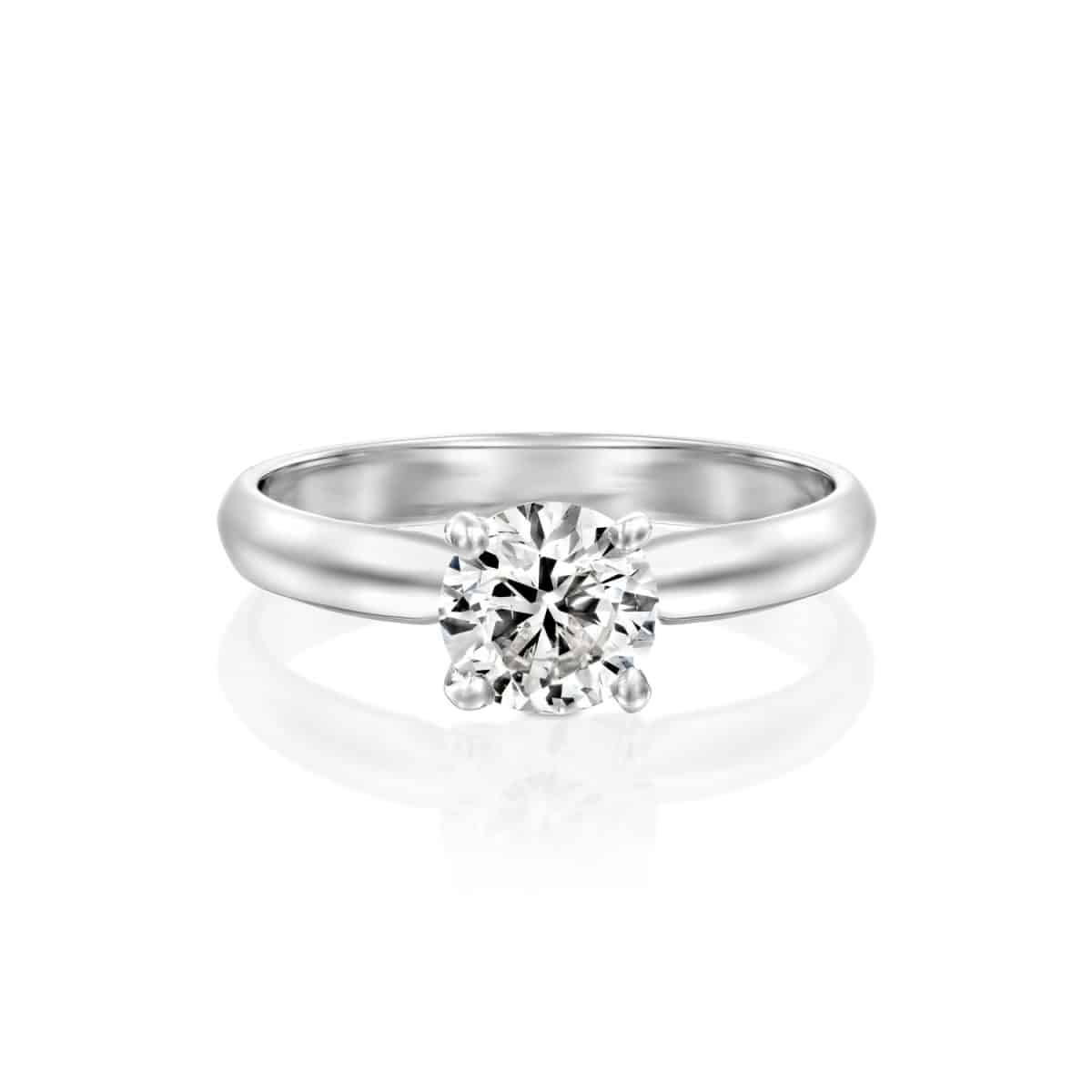 """Brenda"" - White Gold Solitaire Lab Grown Diamond Engagement Ring 0.51ct. - laying"