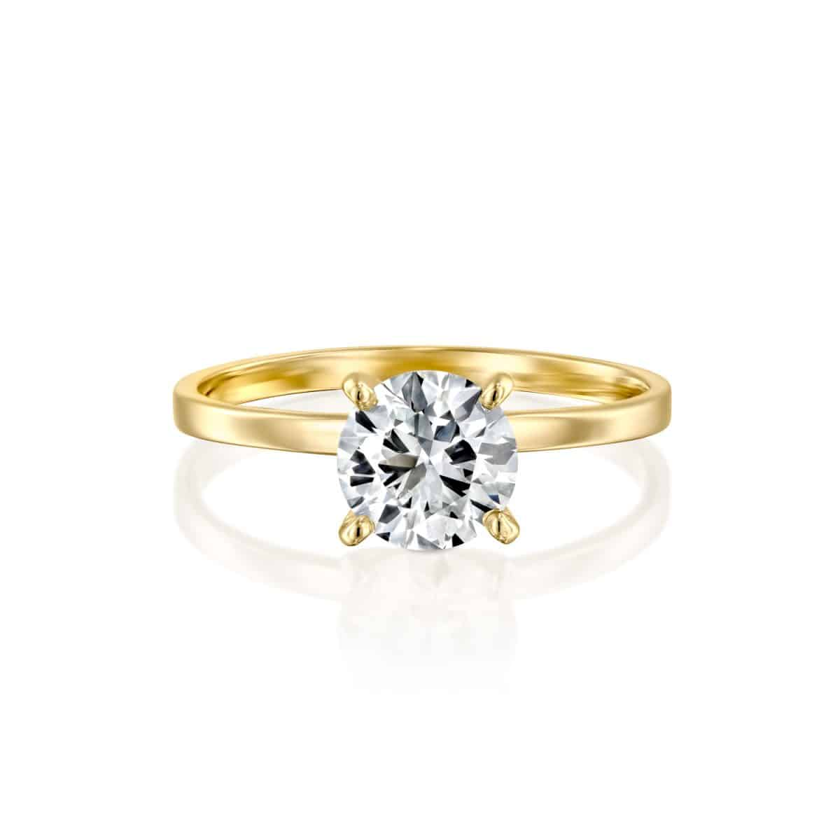 """Anna"" - Yellow Gold Lab Grown Diamond Engagement Ring 0.51ct. - laying"