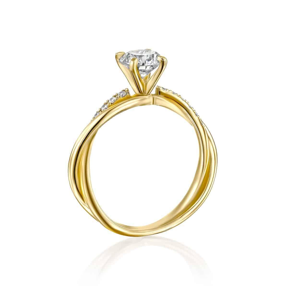 טבעת אירוסין טוויסט - ונ זהב צהוב 3