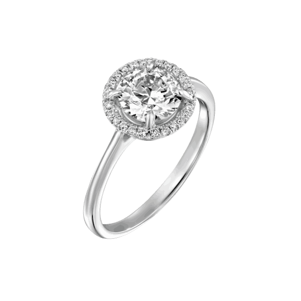 """Lisa"" - White Gold Lab Grown Diamond Engagement Ring 1.01ct. - main"