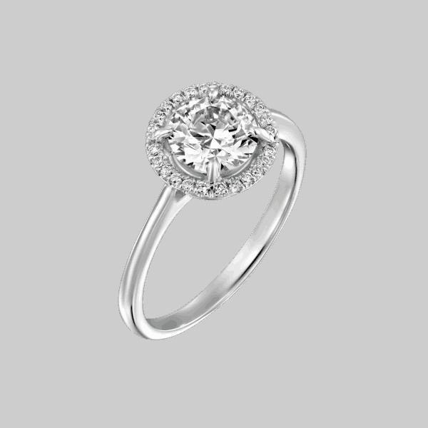 טבעת יהלומים ליסה מזהב לבן 1.01 קראט