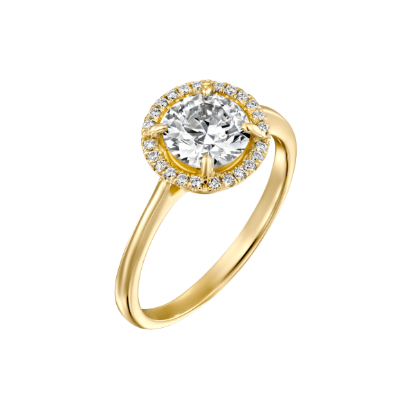 """Lisa"" - Yellow Gold Lab Grown Diamond Engagement Ring 1.31ct. - main"