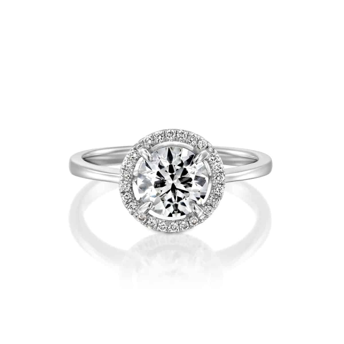 Lisa - White Gold Lab Grown Diamond Engagement Ring 1.01ct. - laying