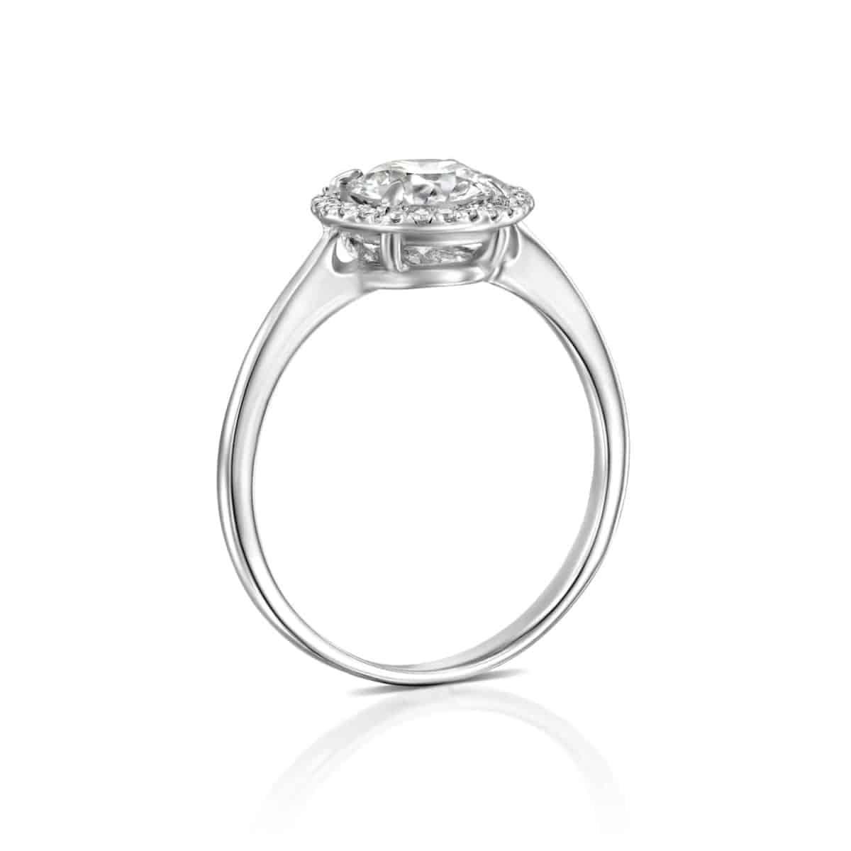 Lisa - White Gold Lab Grown Diamond Engagement Ring 1.01ct. - standing