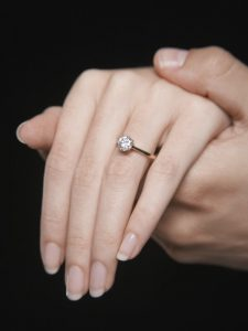 טבעת יהלום מעבדה