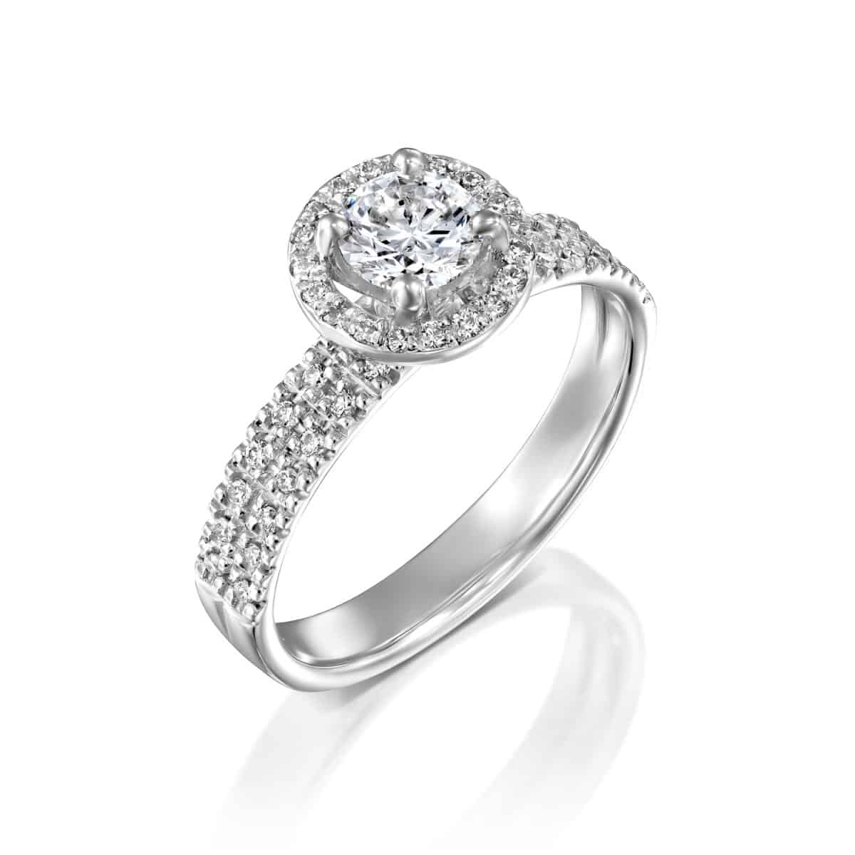 """Venesa"" - White Gold Lab Grown Diamond Engagement Ring 1ct. - main"