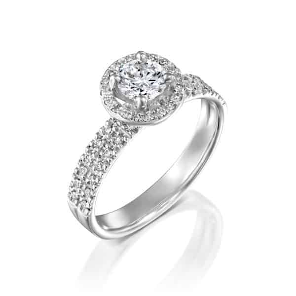 """Venesa"" - White Gold Lab Grown Diamond Engagement Ring 1ct. - main"