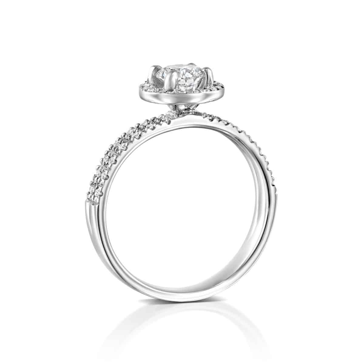 """Venesa"" - White Gold Lab Grown Diamond Engagement Ring 1ct. - standing"