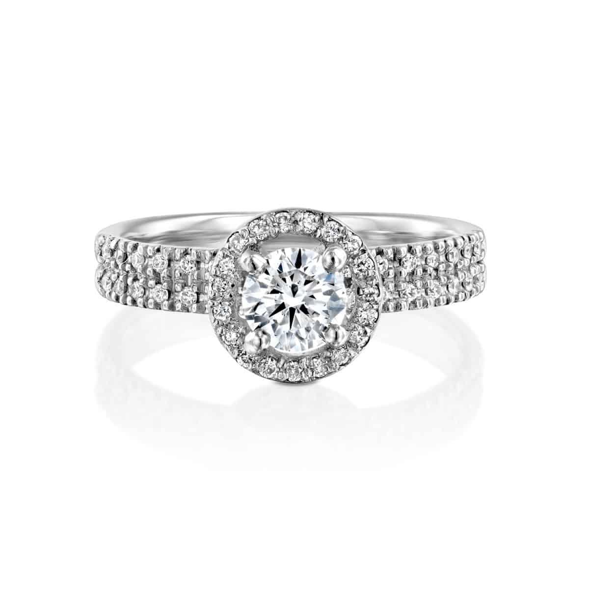"""""""Venesa"""" - White Gold Lab Grown Diamond Engagement Ring 1ct. - laying"""