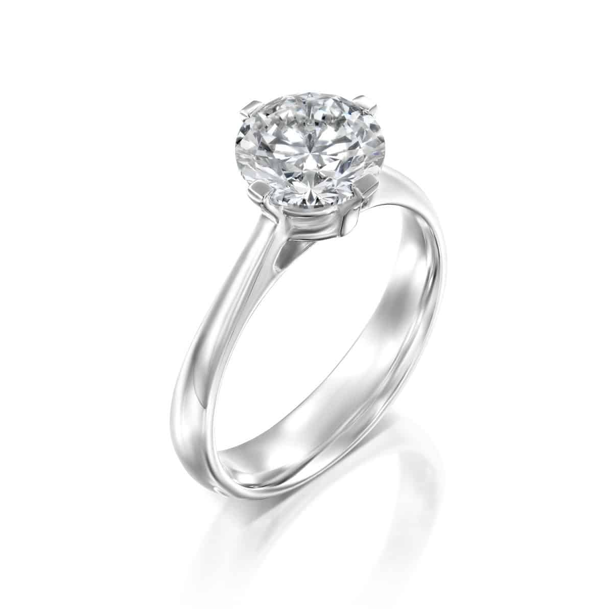 """Mary"" - Solitaire Lab Grown Diamond Engagement Ring 1.51ct. - main"