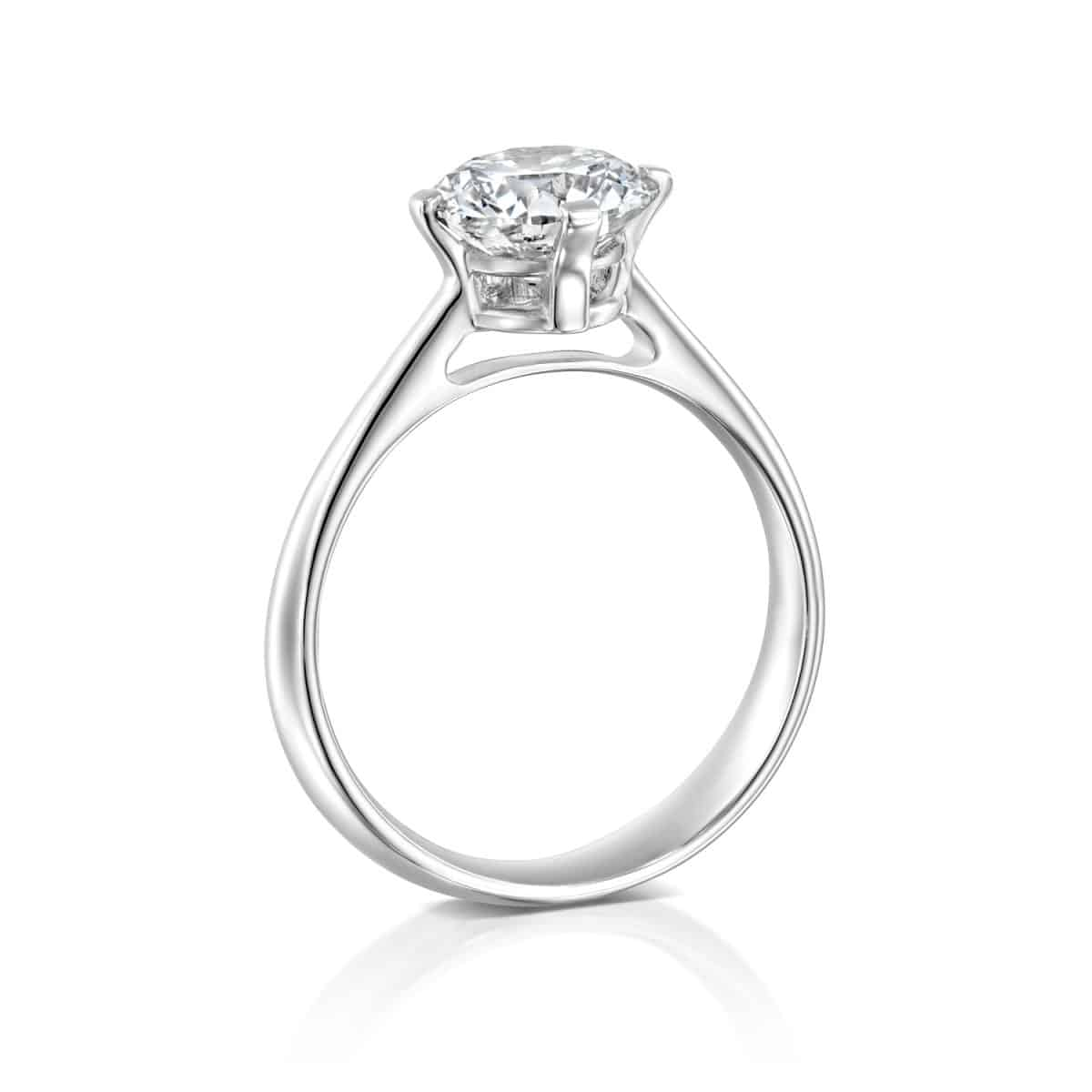 """Mary"" - Solitaire Lab Grown Diamond Engagement Ring 1.51ct. - standing"