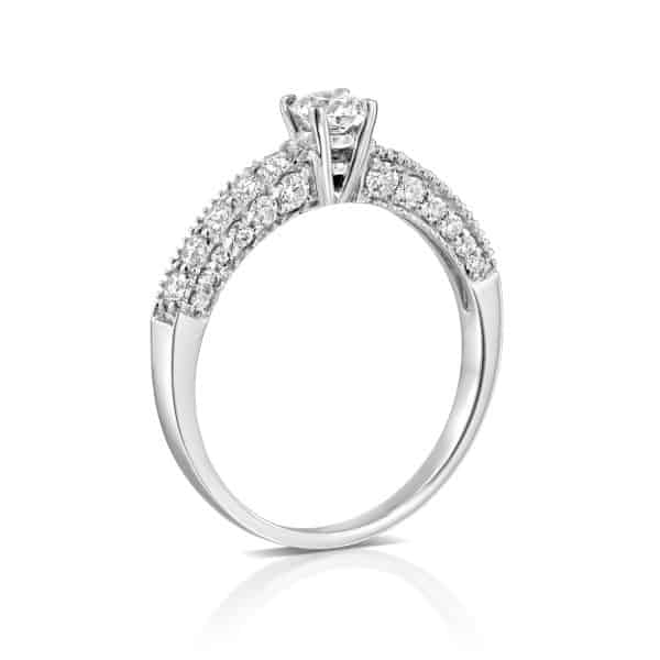 Lab Grown Diamonds Engagement Rings - White Gold