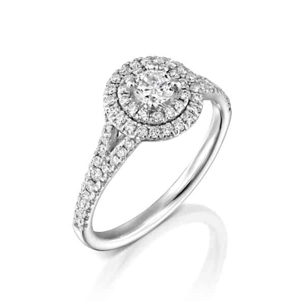 """Halo"" - White Gold Lab Grown Diamond Ring 0.75ct. - main"