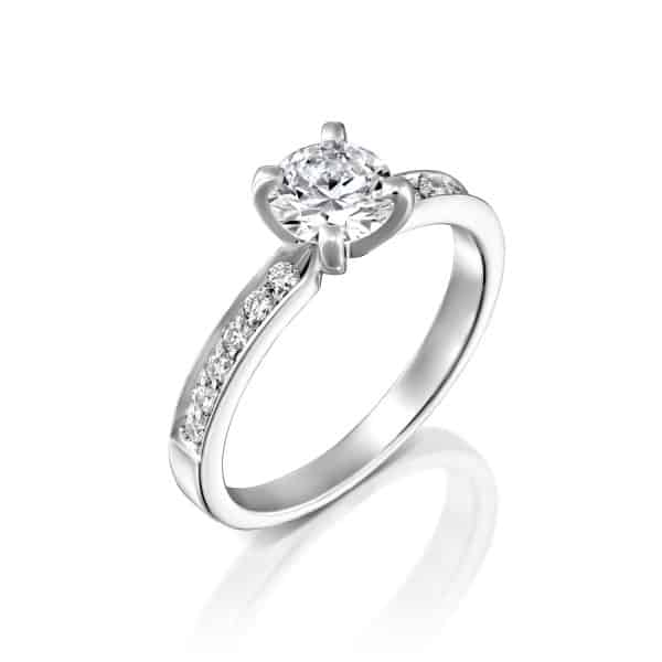 """Lena"" - White Gold Lab Grown Diamond Ring 1.01ct. - main"