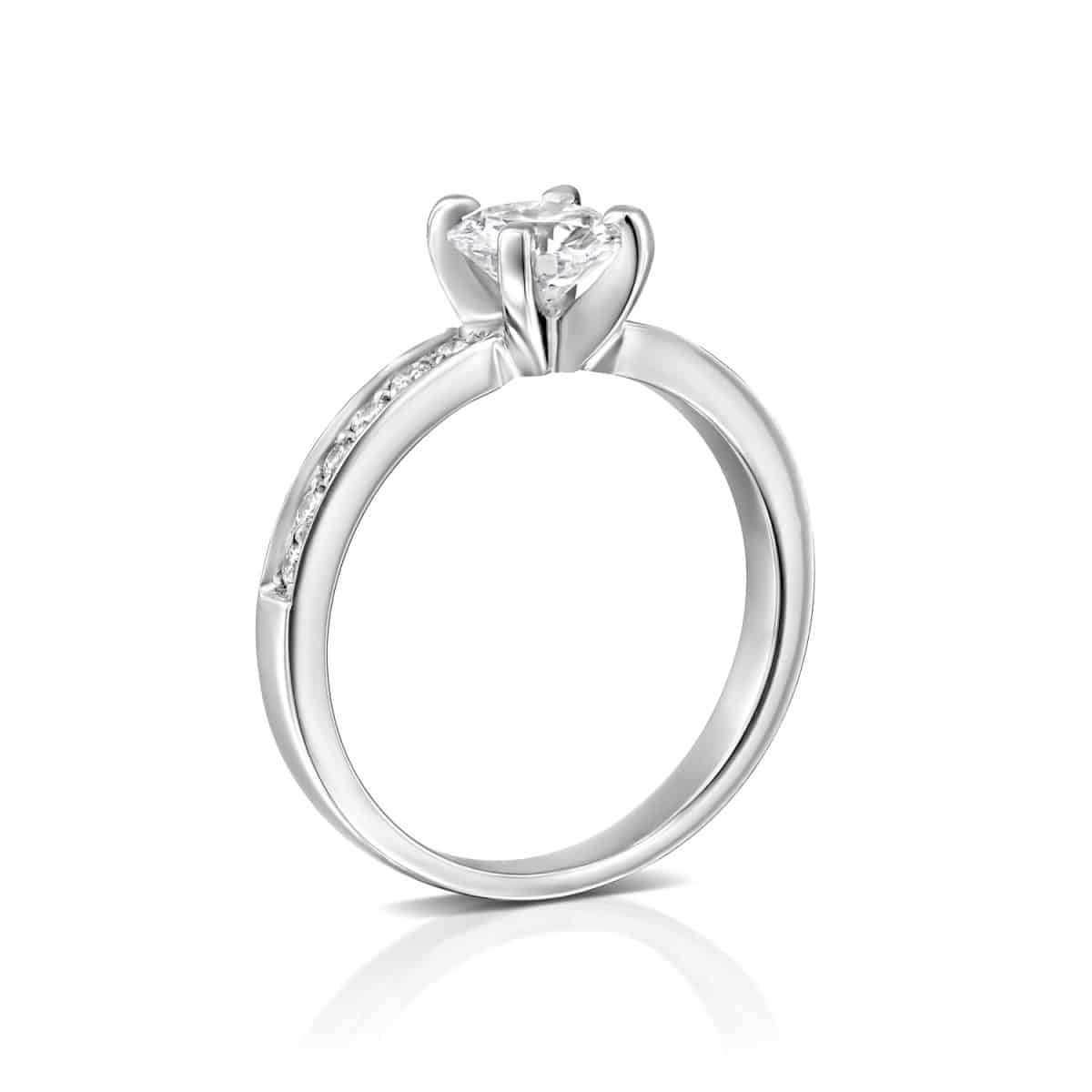 """Lena"" - White Gold Lab Grown Diamond Ring 1.01ct. - standing"