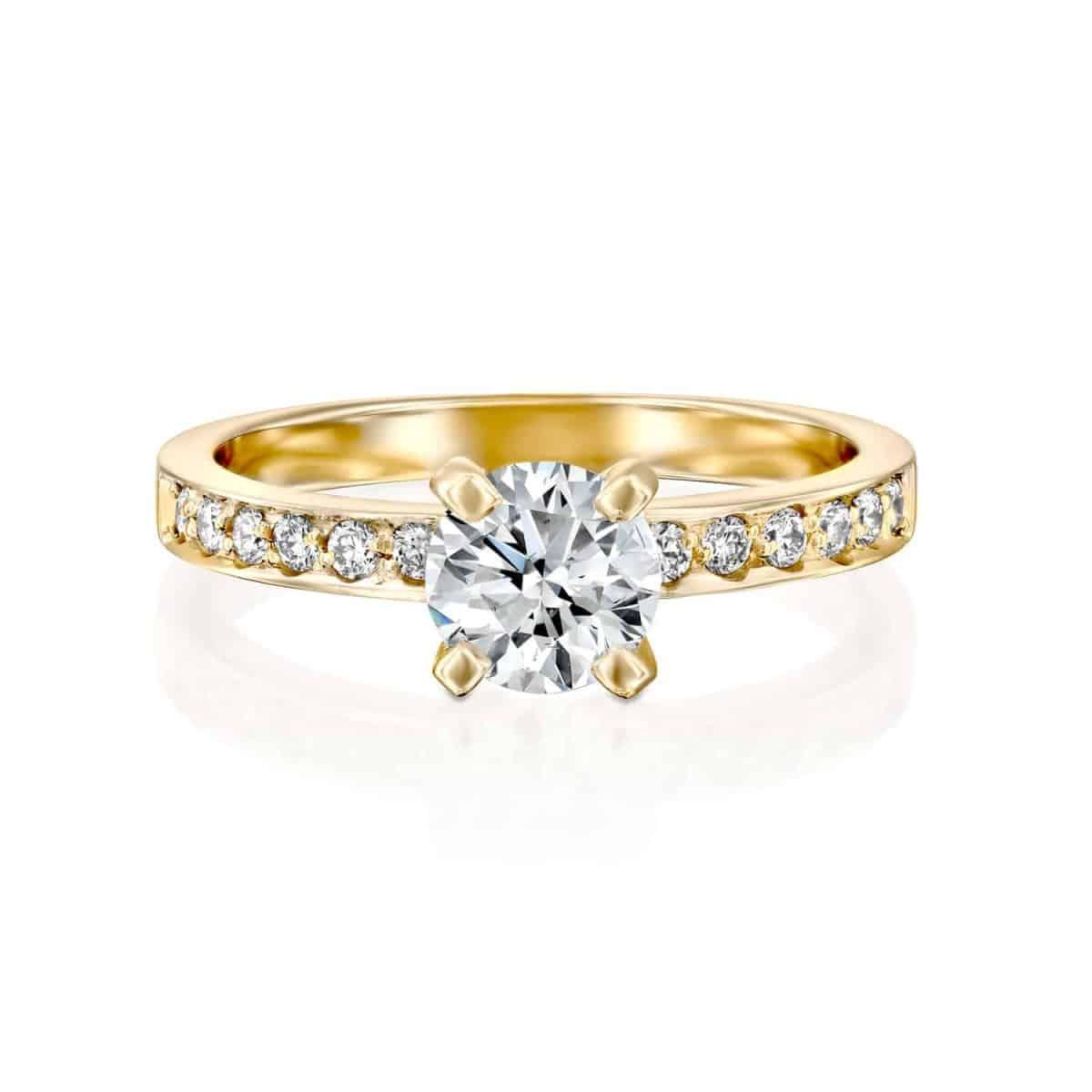Lena - Lab Grown Diamond Engagement Ring 1.10ct. - laying