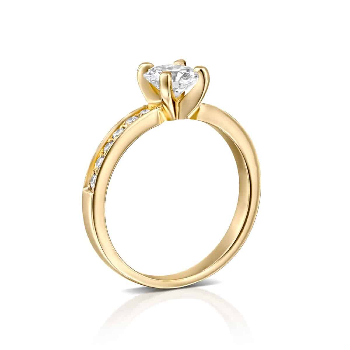 Lena - Lab Grown Diamond Engagement Ring 1.10ct. - standing