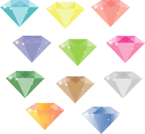 type of colorful diamonds