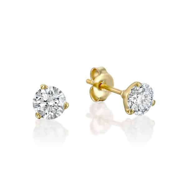 1.00 carat Martini Diamond earings D/VS2