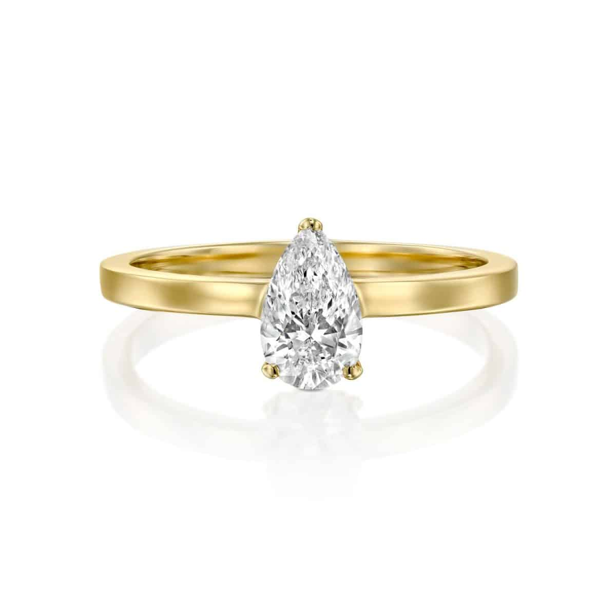 Brittney - Yellow Gold Lab Grown Diamond Engagement Ring 0.60ct. - laying